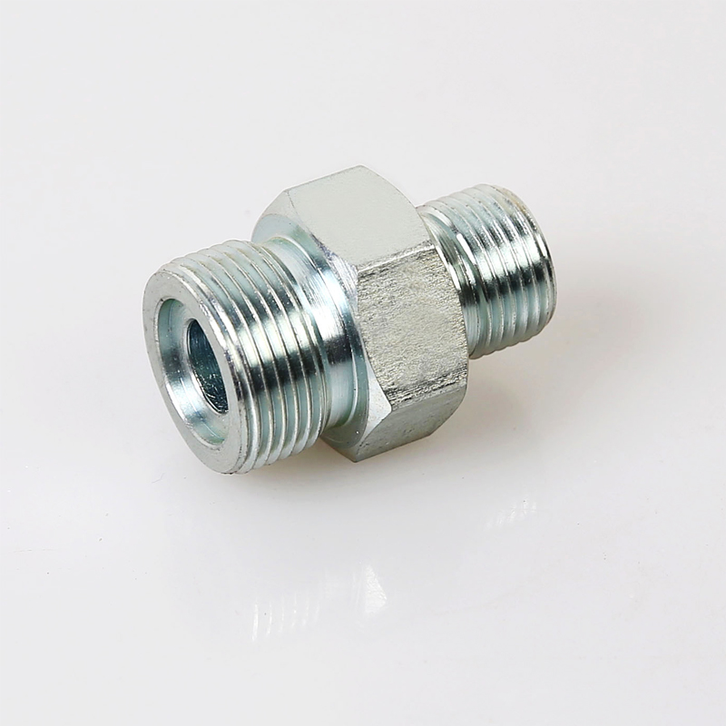 1ET METRIC MALE O-RING/BSPT MALE Carbon Steel Hydraulic Hose Metric Male Fittings