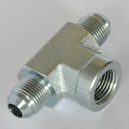 Female Branch Tee 2602 Flare tube end / female pipe end SAE 070427 hydraulic hose end fittings